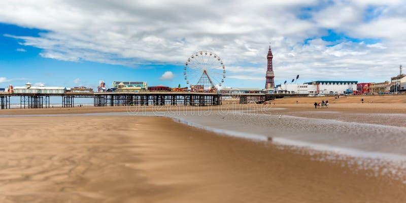 Embarcadero central Blackpool imágenes de archivo libres de regalías