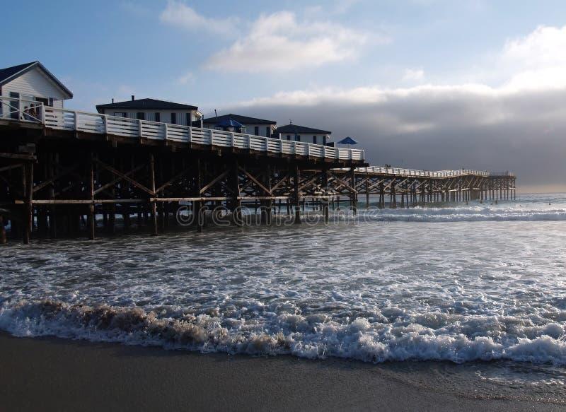 Embarcadero cristalino en San Diego imagen de archivo libre de regalías