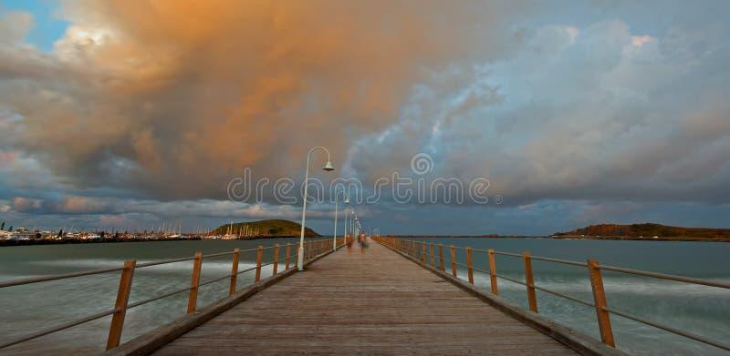 Embarcadero de Coffs Harbour imagenes de archivo