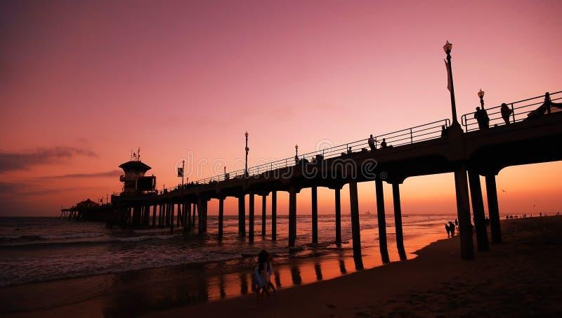 Embarcadero de Huntington Beach foto de archivo libre de regalías