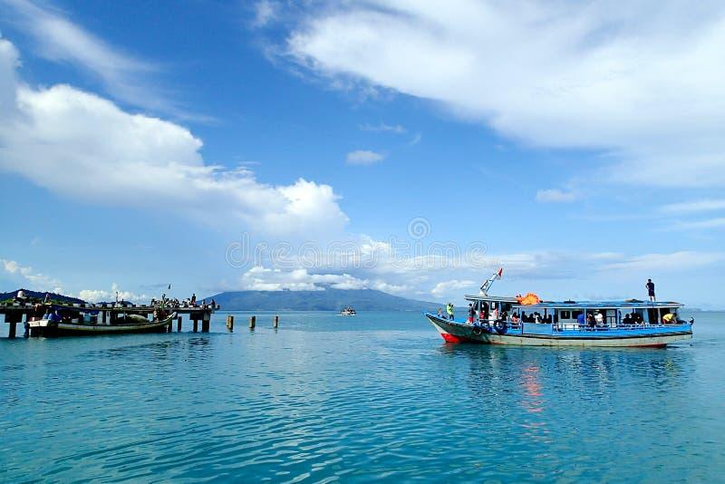 Embarcadero de la isla de Sebesi foto de archivo libre de regalías