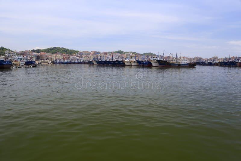 Embarcadero de la pesca de Wuyu fotografía de archivo