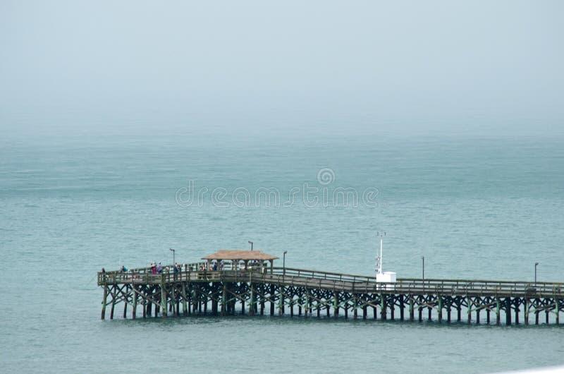 Embarcadero de la pesca en Myrtle Beach foto de archivo libre de regalías