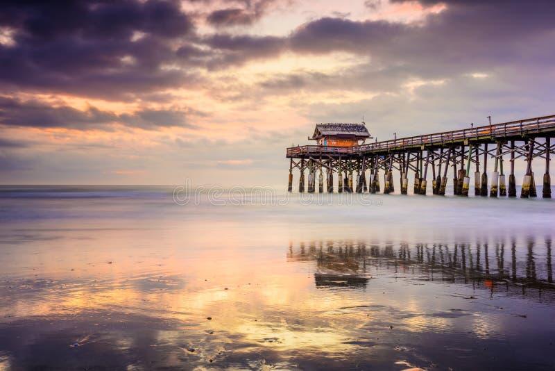 Embarcadero de la playa de Cocao foto de archivo