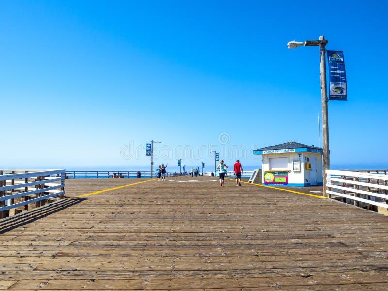 Embarcadero de la playa de Pismo en California foto de archivo