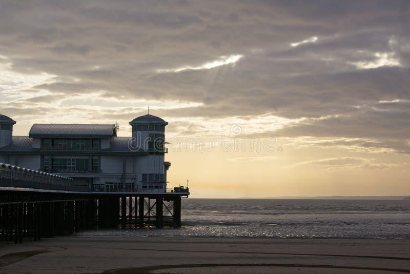 Embarcadero de la puesta del sol imagen de archivo libre de regalías