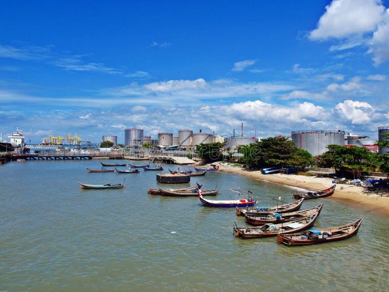 Embarcadero de Penang foto de archivo libre de regalías