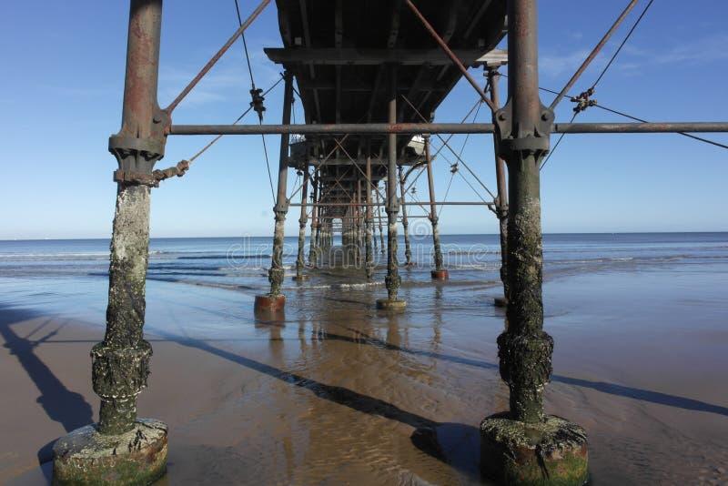 Embarcadero de Saltburn fotos de archivo