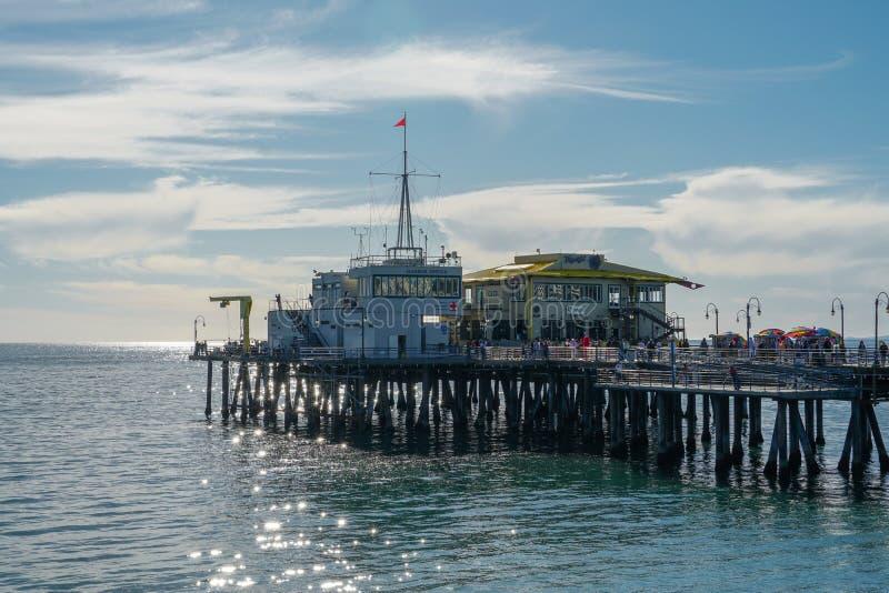 Embarcadero de Santa Monica, Los Angeles, los E.E.U.U., imagen de archivo libre de regalías