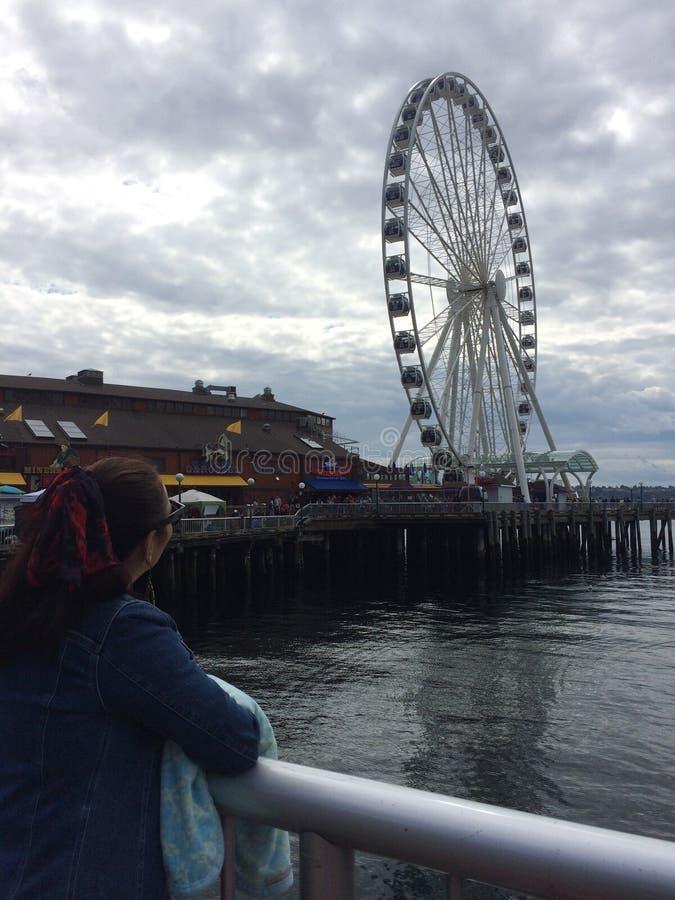 Embarcadero de Seattle foto de archivo