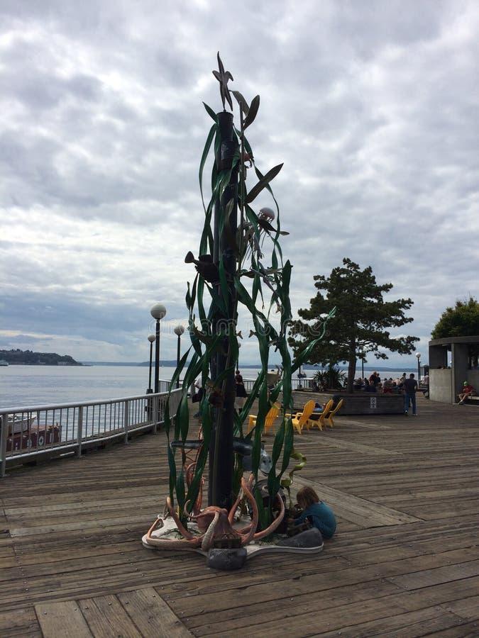 Embarcadero de Seattle imagen de archivo libre de regalías
