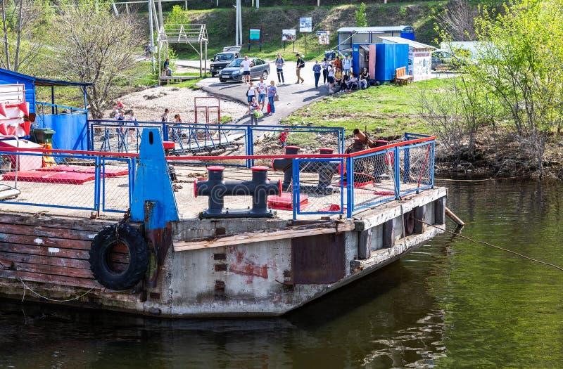 Embarcadero de Shiryaevo en el río Volga imágenes de archivo libres de regalías