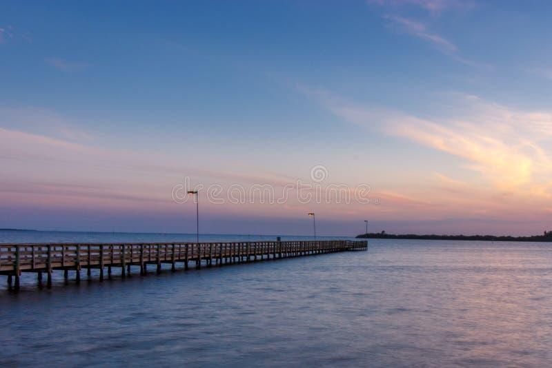 Embarcadero de Venecia la Florida fotografía de archivo