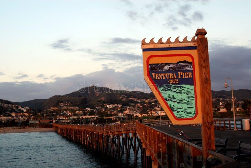 Embarcadero de Ventura fotografía de archivo libre de regalías