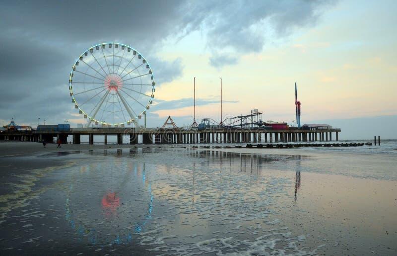 Embarcadero del acero de Atlantic City New Jersey imagenes de archivo
