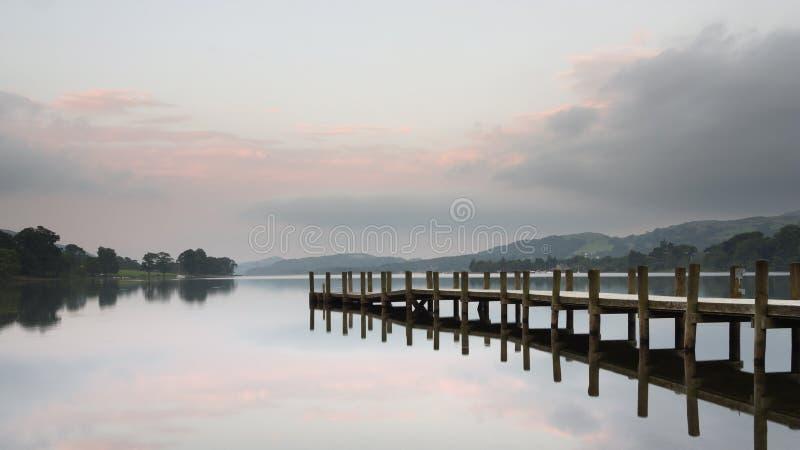 Embarcadero del agua de Coniston fotografía de archivo libre de regalías