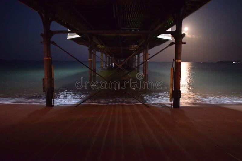 Embarcadero del claro de luna fotografía de archivo
