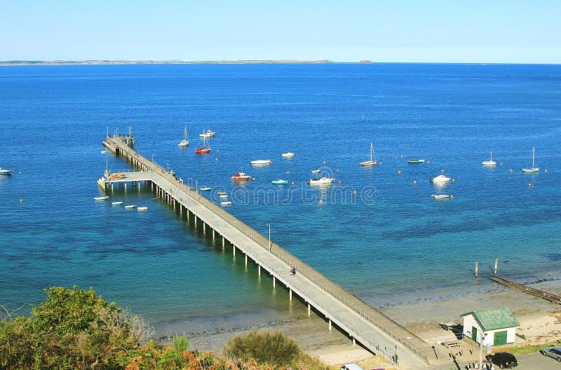 Embarcadero del Flinders, Victoria, Australia foto de archivo