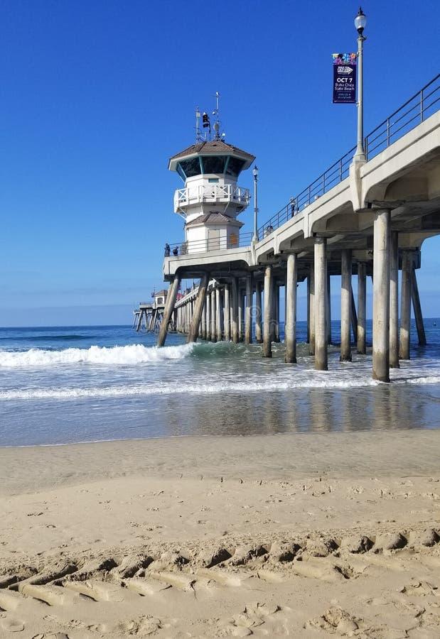 Embarcadero del Huntington Beach imágenes de archivo libres de regalías