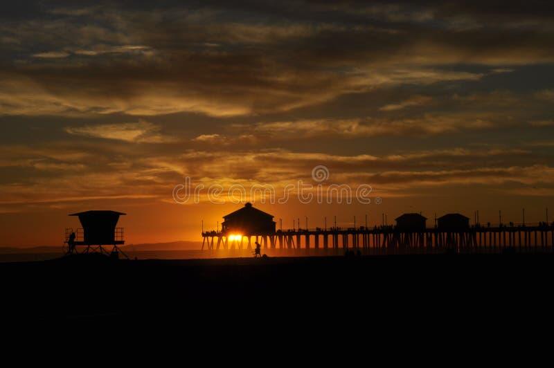 Embarcadero del Huntington Beach foto de archivo libre de regalías
