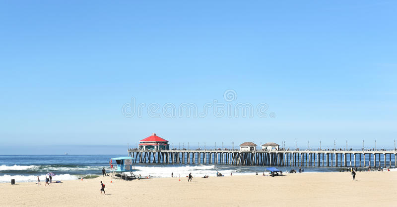 Embarcadero del Huntington Beach foto de archivo