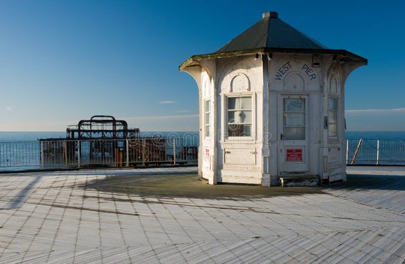 Embarcadero del oeste Brighton imagenes de archivo