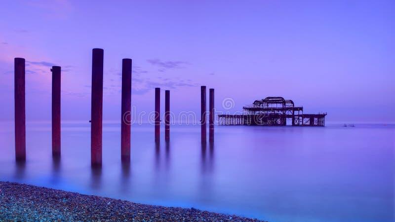 Embarcadero del oeste, Brighton foto de archivo
