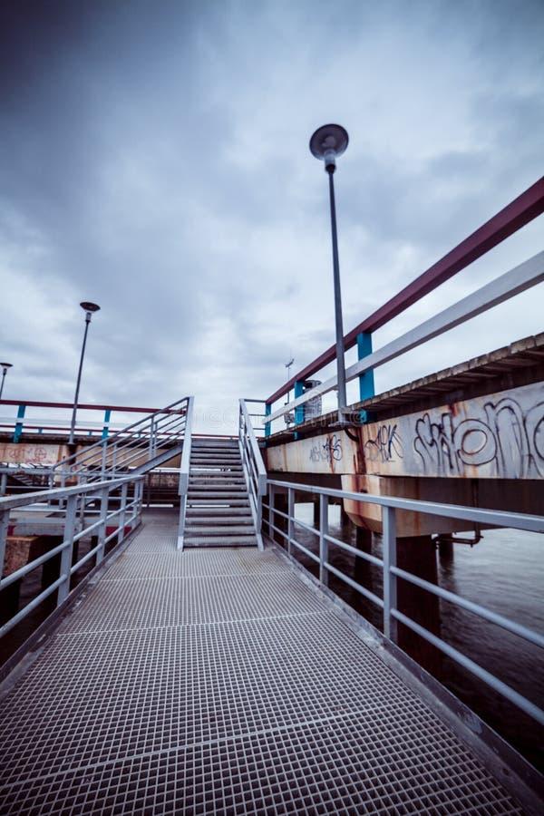 Embarcadero en el mar Báltico fotos de archivo libres de regalías