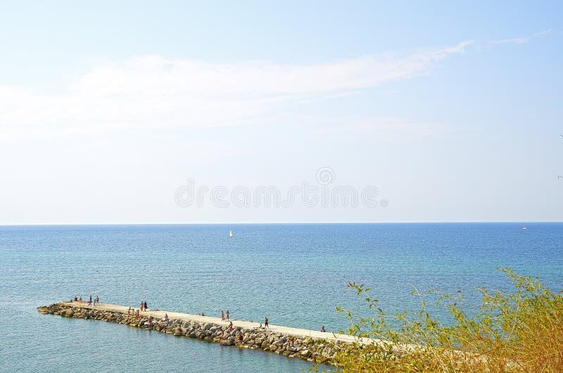 Embarcadero en el Mar Negro imagen de archivo