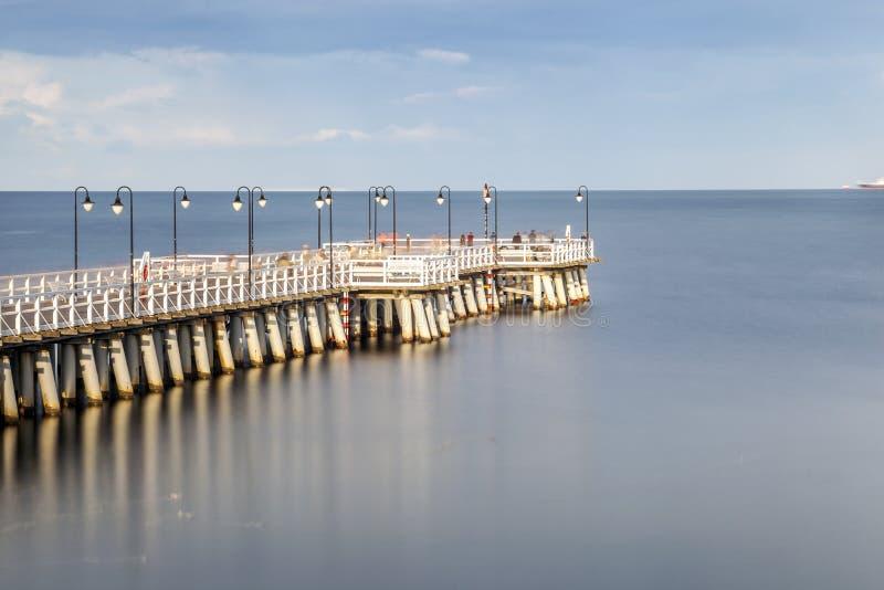 Embarcadero en Gdynia, Polonia fotos de archivo libres de regalías