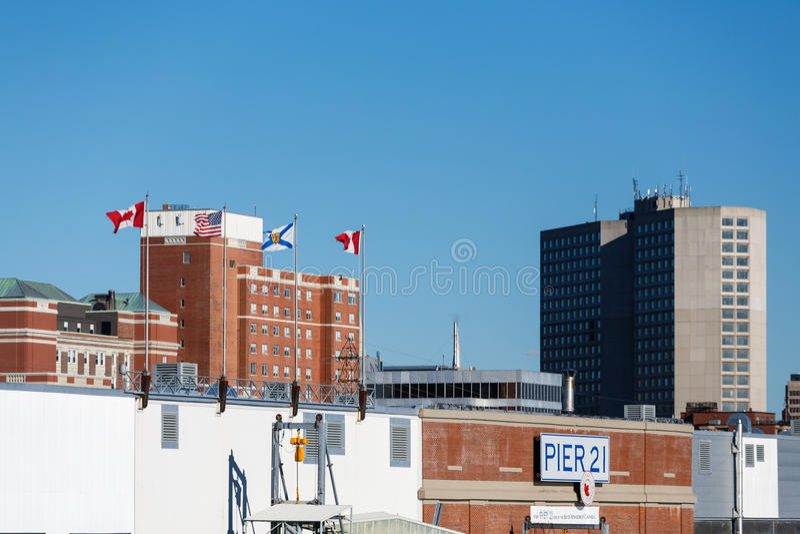 Embarcadero 21 en Halifax imágenes de archivo libres de regalías