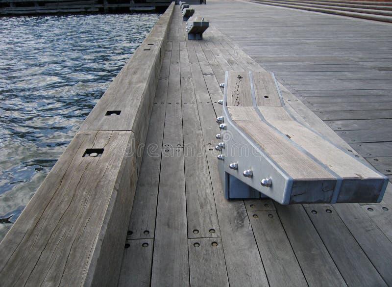 Embarcadero en los Docklands fotos de archivo libres de regalías