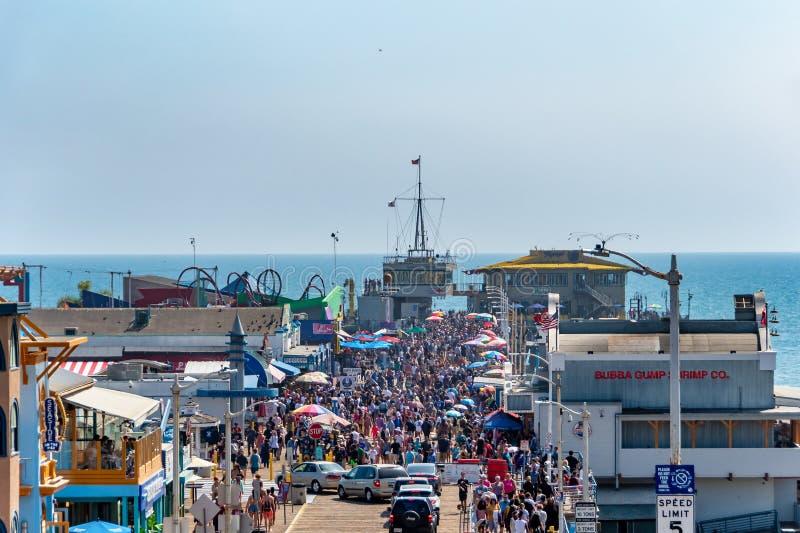 Embarcadero en Santa Monica, California imagen de archivo libre de regalías