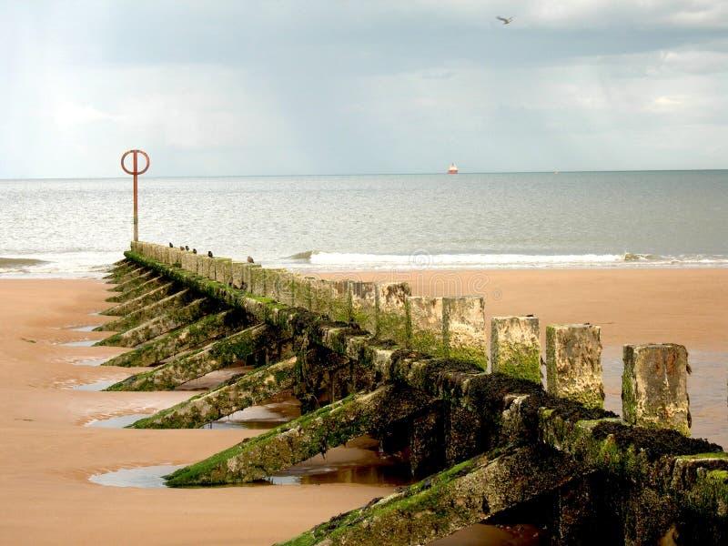 Embarcadero, playa escocesa foto de archivo libre de regalías