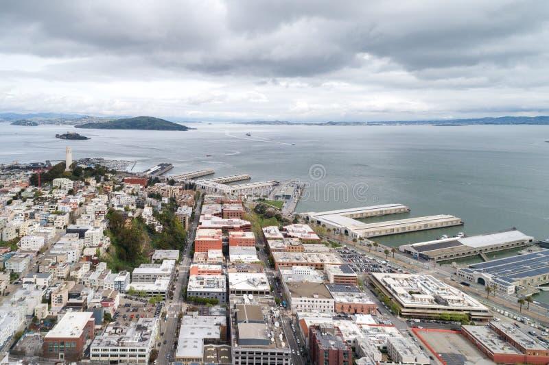 Embarcadero in San Francisco Oostelijke waterkant van de Haven van San Francisco royalty-vrije stock foto's