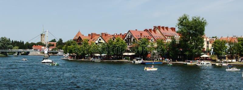 Embarkment Mikolajki над sniardwy озером стоковое изображение rf