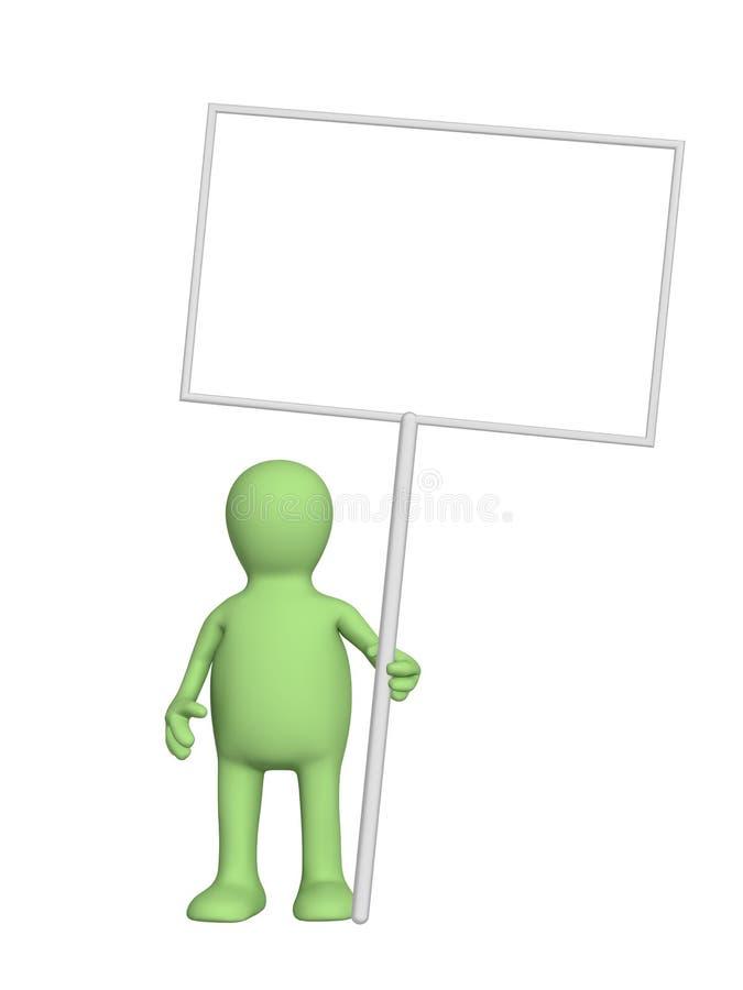 embarque la marionnette de message illustration stock
