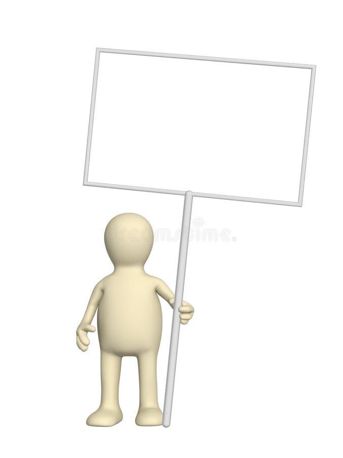 embarque la marionnette de message illustration de vecteur