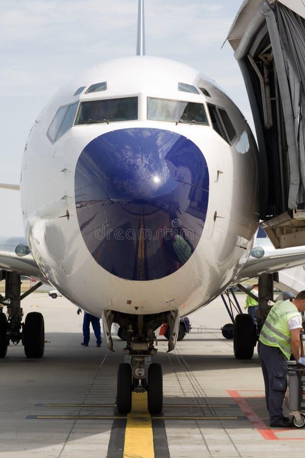 Embarquement d'avion images stock