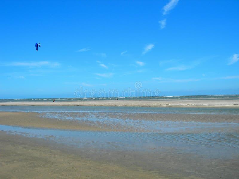Embarquement de cerf-volant sur la plage en Caroline du Sud Amérique photographie stock
