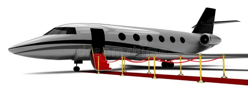 Embarquement privé d'avion sur le tapis rouge illustration libre de droits