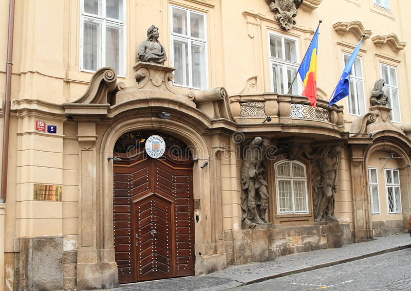 Embassy of Romania in Prague royalty free stock photos