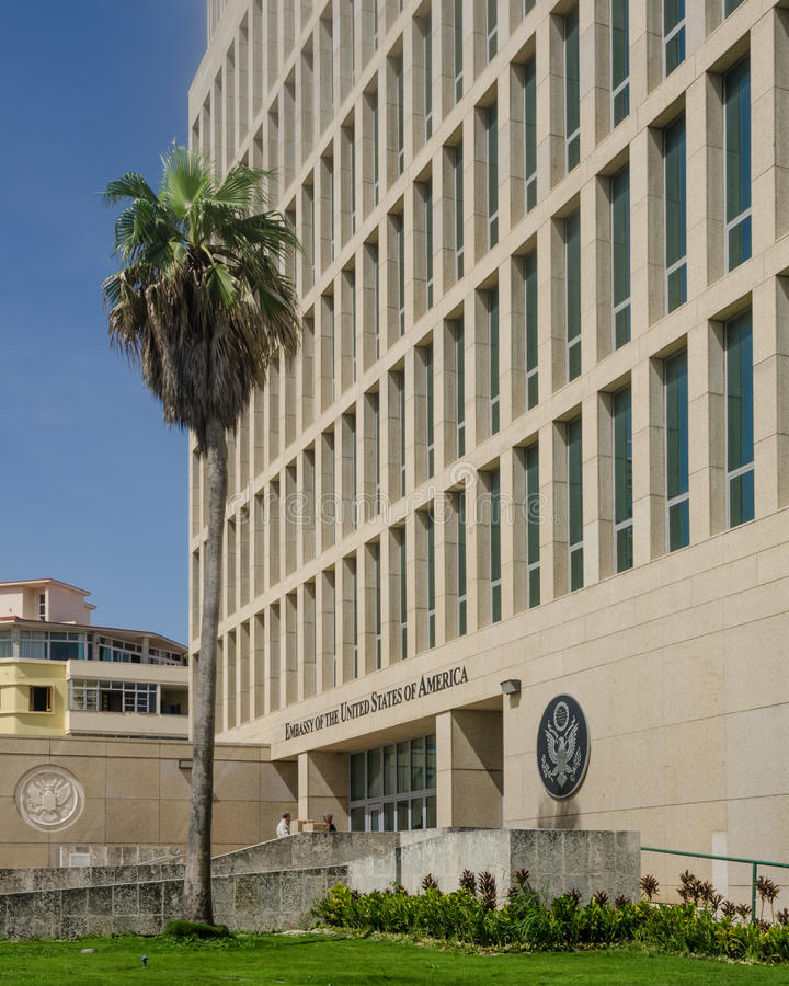 Embassy of the United States of America in Havana, Cuba royalty free stock images