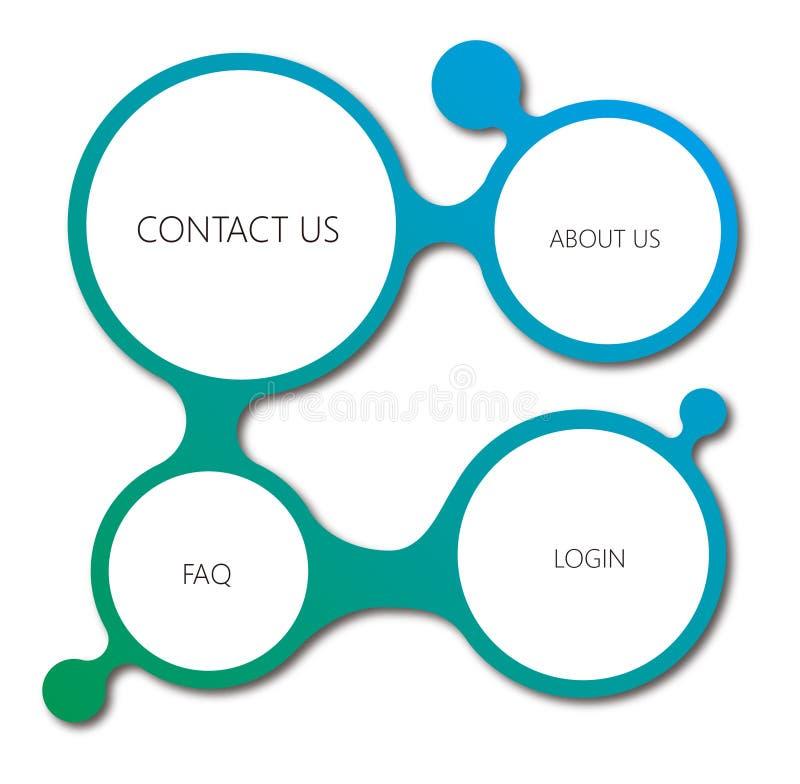 Embeleze a conexão de quatro círculos ilustração stock