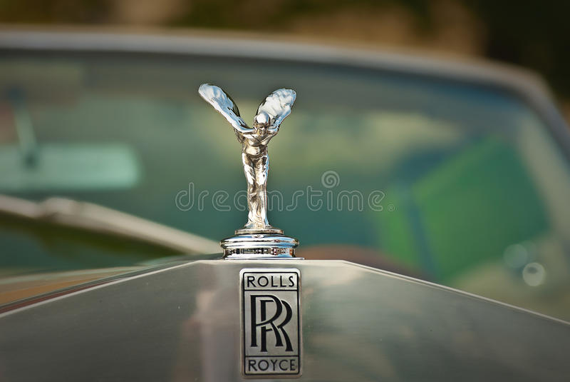 embem λογότυπο Rolls-$l*royce στοκ φωτογραφίες