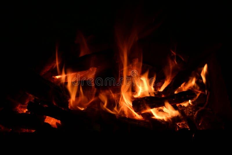 Ember przy nocą zdjęcie stock