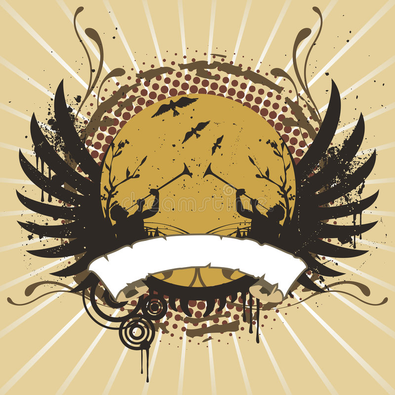 Emblème illustration de vecteur