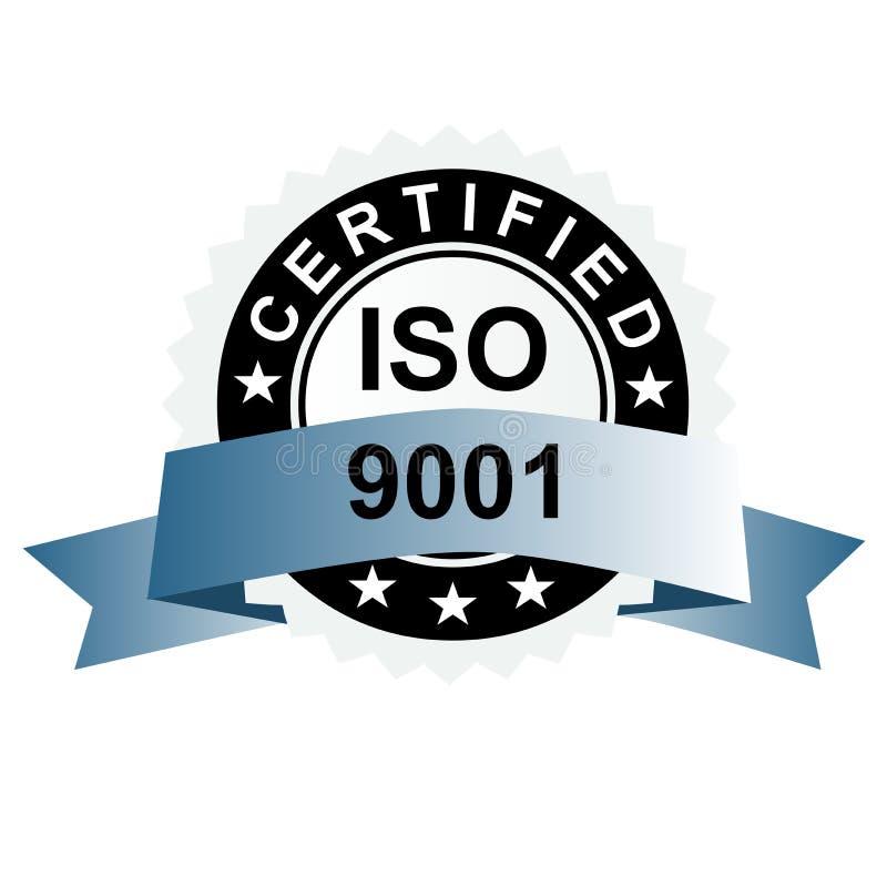 Emblème argenté certifié par OIN illustration stock