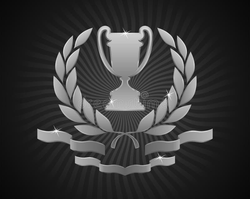 Emblème argenté de tasse illustration stock