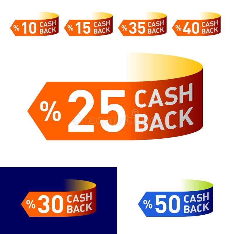 emblème arrière d'argent comptant illustration de vecteur